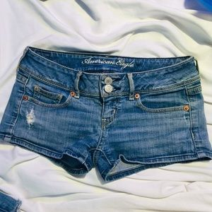 American eagle jean shorts size 0 (stretch)